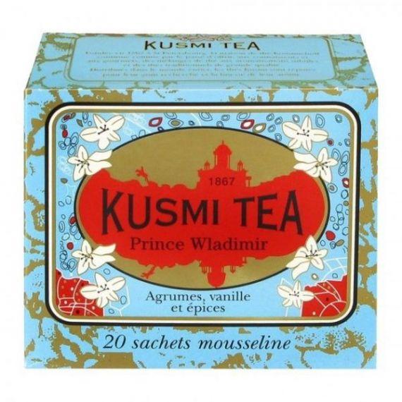 Prince Vladimir 20 Muslins. Kusmi Tea. 12 Unidades