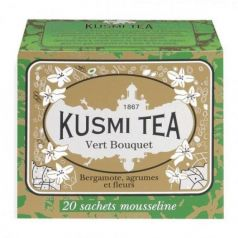 Green Bouquet 20 Muslins. Kusmi Tea. 12un.