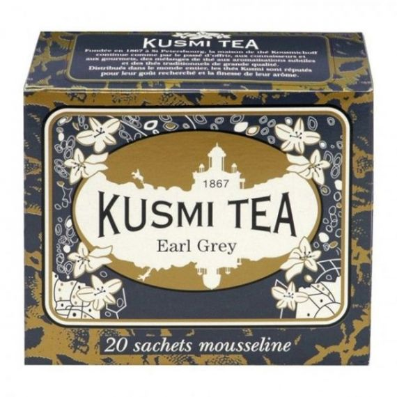 Earl Grey 20 Muslins. Kusmi Tea. 12 Unidades
