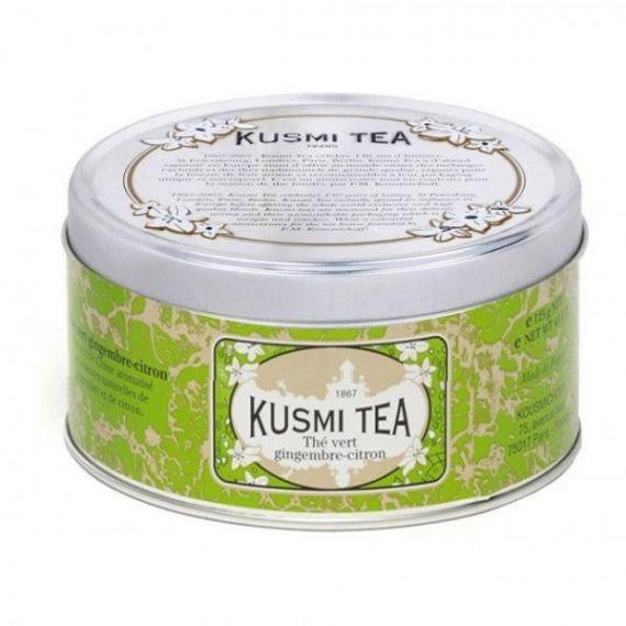Ginger-lemon green tea 125gr. Kusmi Tea. 6 Unidades
