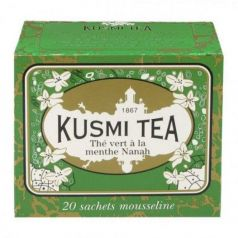 Spearmint green tea 20 Muslins. Kusmi Tea. 12 Unidades
