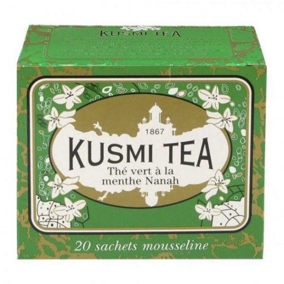 Spearmint green tea 20 Muslins. Kusmi Tea. 12 Unidades