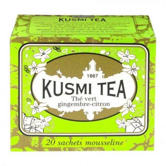Ginger-lemon green tea 20 Muslins. Kusmi Tea. 12 Unidades