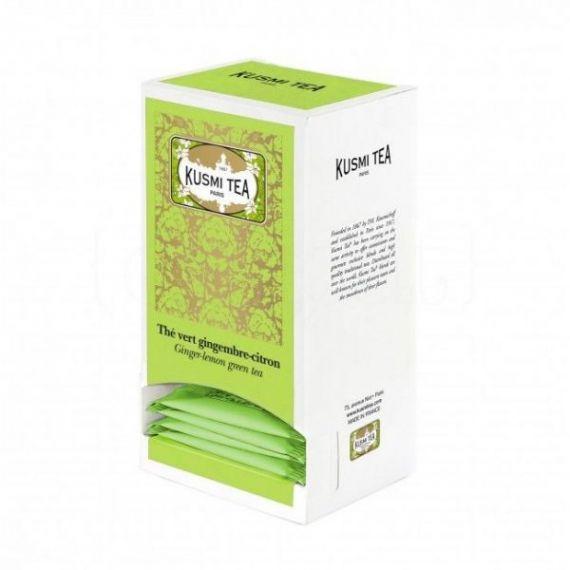 Ginger-lemon green tea 25 Muslins. Kusmi Tea. 1 Unidades