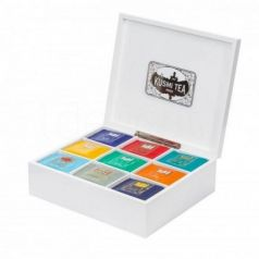 Cofre de madera para 100 muselinas (vacío). Kusmi Tea. 1 Unidades