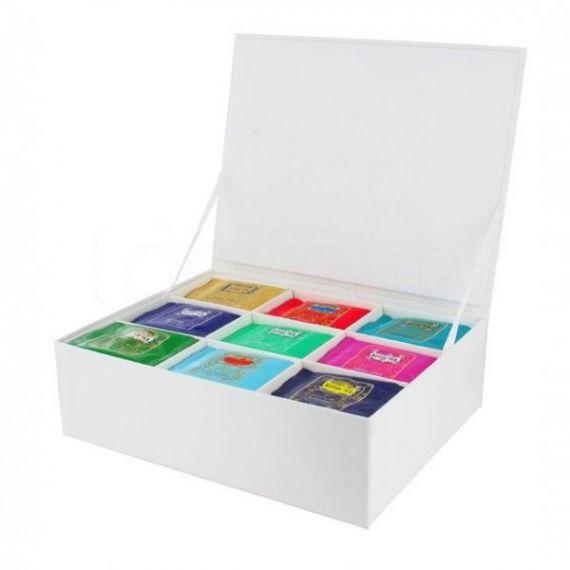 Cofre de cartón para 100 muselinas (vacío). Kusmi Tea. 1 Unidades