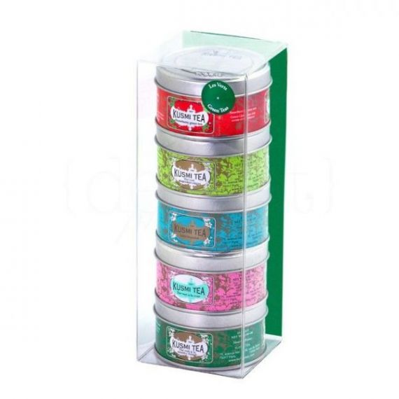 Green Teas Selection 5x25gr. Kusmi Tea. 10 Unidades