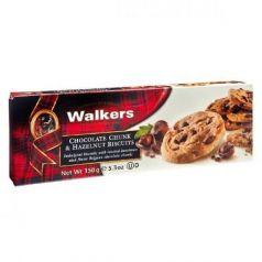 Biscuits con Trozos de Chocolate Belga y Avellana 150gr. Walkers. 12 Unidades