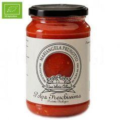 Pulpa de tomate natural cortada a cuadros 340gr. Mariangela Prunotto. 12 Unidades
