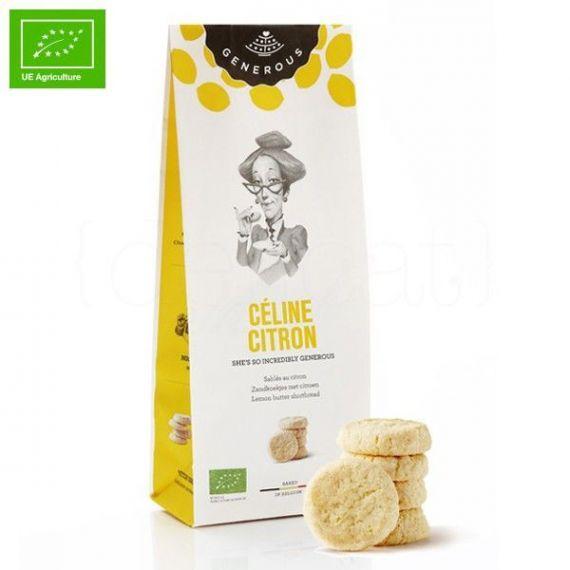 Galletas Ecológicas de Mantequilla y Limón (Céline Citron) 120gr. Generous. 8 Unidades