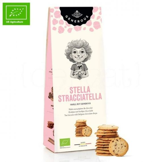 Galletas Ecológicas de Stracciatella (Stella Stracciatella) 100gr. Generous. 8 Unidades