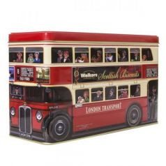 "Surtido Biscuits de Frutas y Chocolate ""London Bus"""" 450gr. Walkers. 6 Unidades"""