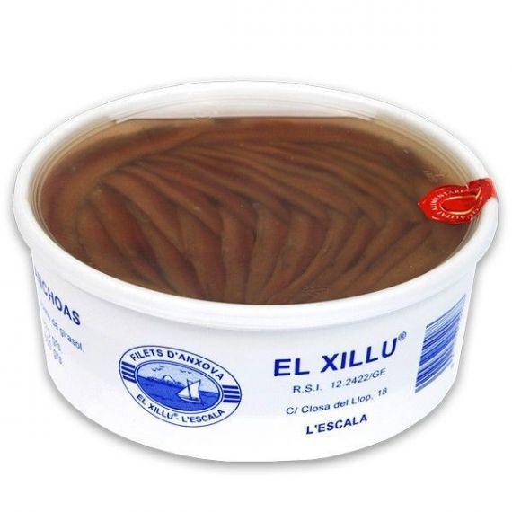Filete de Anchoa (100 filetes grandes) 875gr. Anxoves El Xillu. 1 Unidades