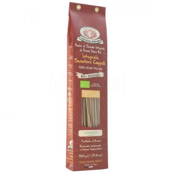Spaghetti de Espelta Integral BIO 500gr. Rustichella D\'abruzzo. 12 Unidades