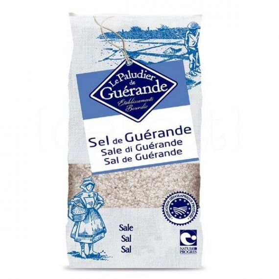 Sal Fina de Guérande (bolsa plástico) 1kg. Le Paludier. 10 Unidades