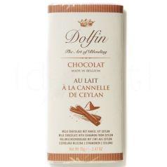 Chocolate con Leche a la Canela de Ceylan 70gr. Dolfin. 15 Unidades
