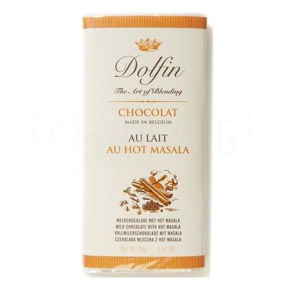 Chocolate con Leche al Hot Masala 70gr. Dolfin. 15 Unidades