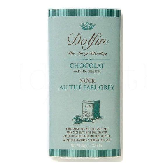 Chocolate Negro al Te Earl Grey 70gr. Dolfin. 15 Unidades