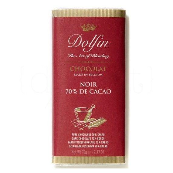 Chocolate Negro al 70% de Cacao 70gr. Dolfin. 15 Unidades