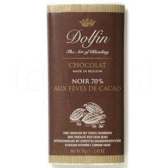 Chocolate Negro 70% con trozos de Cacao 70gr. Dolfin. 15 Unidades