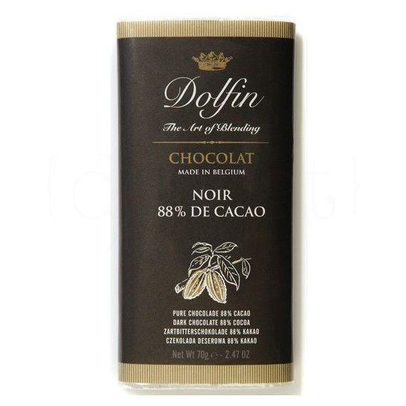 Chocolate Negro 88% de Cacao 70gr. Dolfin. 15 Unidades