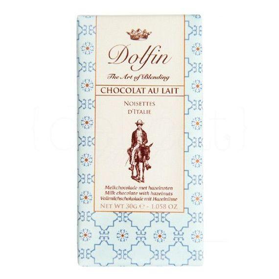 Chocolate con Leche y Nueces de Italia 30gr. Dolfin. 25 Unidades