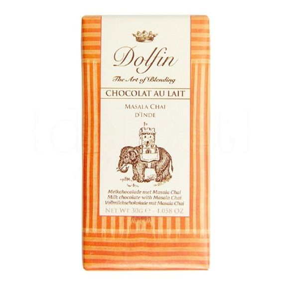 Chocolate con Leche Masala Chai de la India 30gr. Dolfin. 25 Unidades