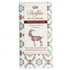 Chocolate Negro con Naranja Amarga de España 30gr. Dolfin. 25 Unidades