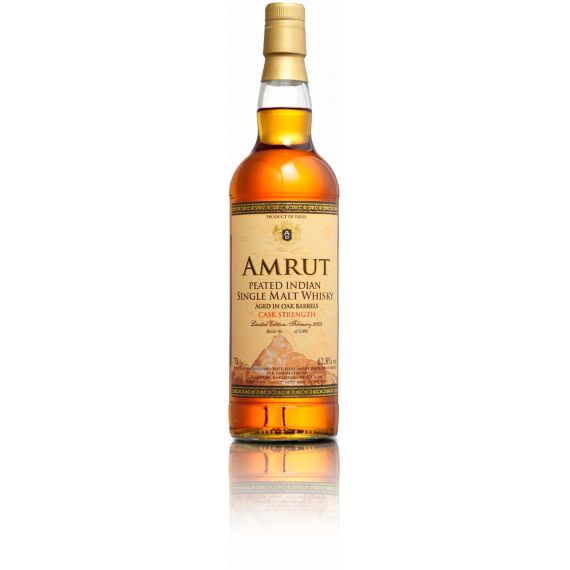 AMRUT SINGLE MALT WHISKY PEATED CASK STRENGHT 70CL 62,8%