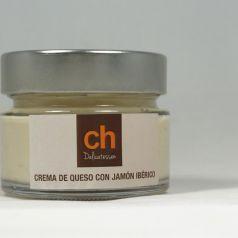 Cream cheese with iberico ham