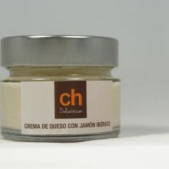 Crema de queso con jamon iberico