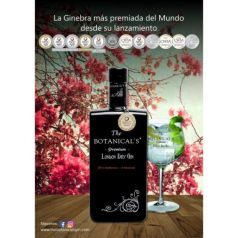 Gin The Botanical's, 100 cl. 42,5º - The Botanical's Premium London Dry Gin (MEDALLA DE ORO IWSC)