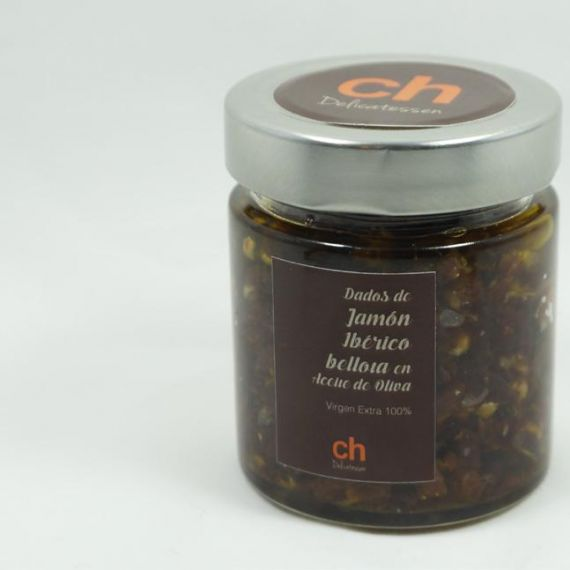 Dados de jamon iberico en aceite de oliva virgen extra