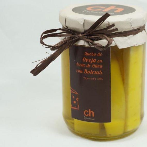 Queso con boletus en aceite de olivia virgen extra 100%