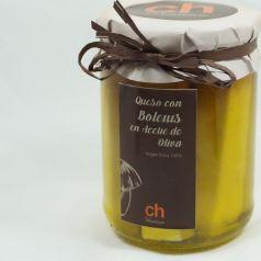Queso en aceite de olivia virgen con boletus