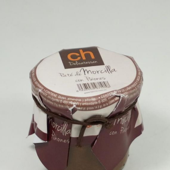 Black pudding pate with pine nuts