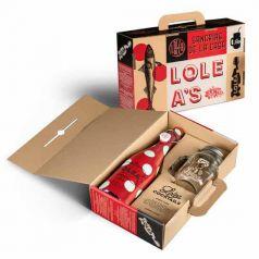 Kit Maletin Mason Jar con Botella Lolea Tinta