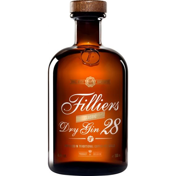 """Filliers 28 Premium Dry Gin Gin Filliers """"28 botánicas"""", 50 cl.46º"""