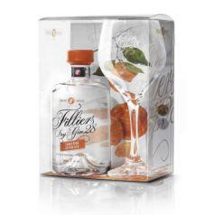 """Filliers 28 Premium Dry Gin PACK Gin Filliers """"Tangerine"""" (mandarina), 50 cl.43,7º + COPA"""