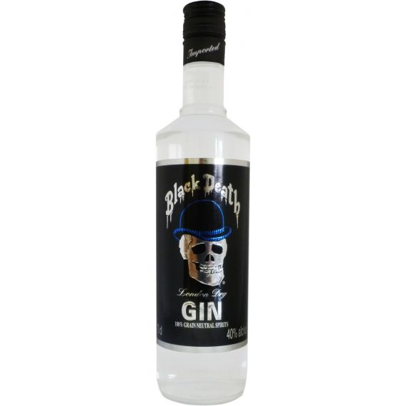 Black Death Gin London Dry, 70 cl. 40 %