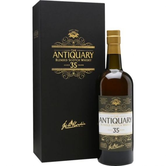 THE ANTIQUARY BLENDED SCOTCH WHISKY 35 AÑOS 70CL 46% + ESTUCHE LUJO MADERA