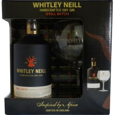 Pack Gin Whitley Neill, 70 cl, 42º + COPA Balón Premium London Dry Gin