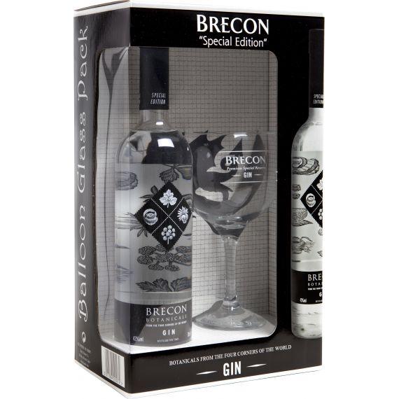 Pack Gin Brecon Special Edition, 70 cl. 43º + COPA BALÓN serigrafiada