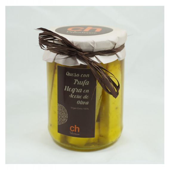 Queso en aceite de olivia virgen con trufa
