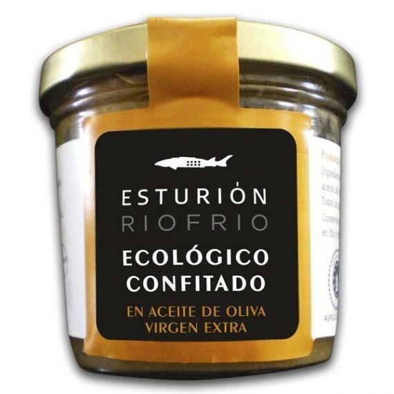 Esturión Ecológico confitado en Aceite de Oliva 115gr. Riofrío