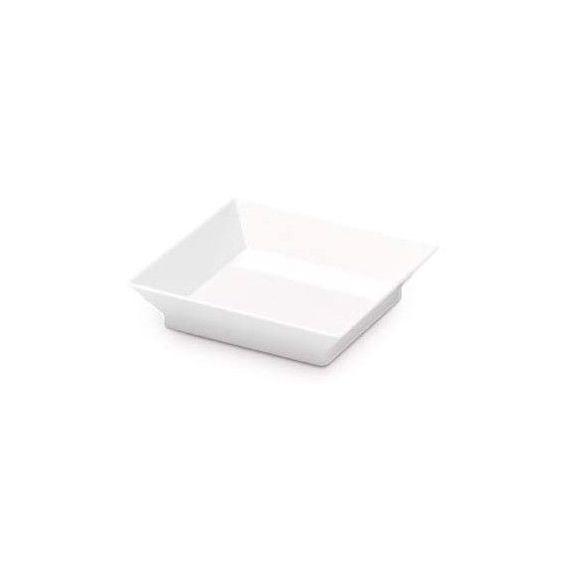 Mini plato Cubik blanco. Comatec. 360un.
