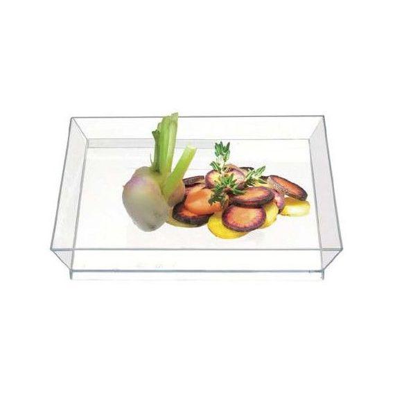 Plato Cubik 130 transparente. Comatec. 100un.