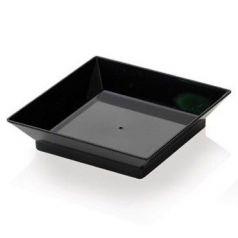 Mini plato Cubik negro. Comatec. 360un.