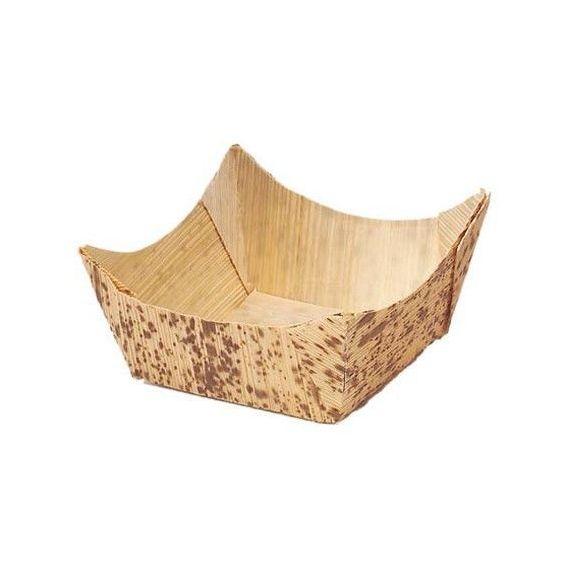 Cesta de bambú pequeña. 100%Chef. 100un.
