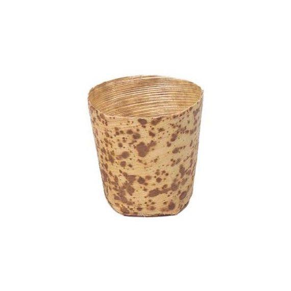 Vasito de bambú grande. 100%Chef. 100un.